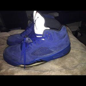 sale retailer 9c866 158dd Jordan 5s all blue suede